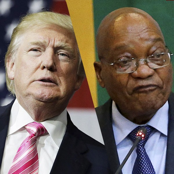 An image of trump and zuma, the US and South African presidents